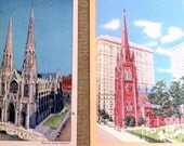 Churches of nyc postcards  *Reserved*