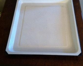 Vintage enamel tray serving