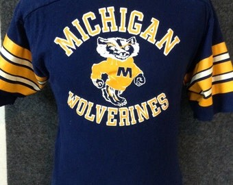 1978 Michigan Wolverines jersey shirt Bike USA L