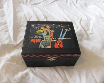 The Astounding She Monster Sci Fi Keepsake Stash Box