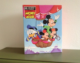 Never Opened 1985 Walt Disney's Mickey Mouse 99 Piece Puzzle ~ Vintage Mickey Mouse ~ Donald Duck ~ Deadstock