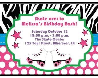 Skating Birthday Invitation