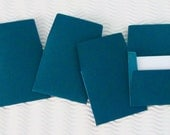 36+ teeny tiny envelope note card sets handmade blue mysterious teal mini miniature square party favors weddings stationery guest book