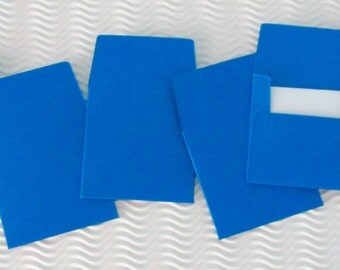 36+ teeny tiny envelope note card sets handmade classic blue mini miniature square party favors weddings stationery guest book