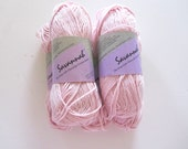 5 Skeins Bernat Savannah Yarn - 35% Cotton - Petal Pink