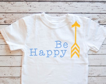 Be Happy Arrow Tee for Boys and Girls