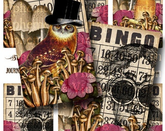 Steampunk Owls - Printable Journaling Cards