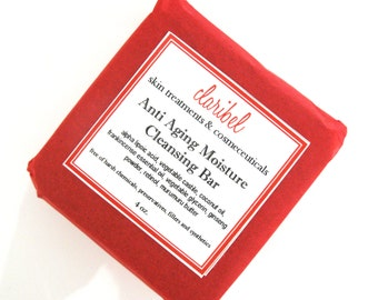 Anti Aging Moisture Cleansing Bar, Anti Aging Cleanser, Cleansing Bar, Facial Cleanser, Facial Cleansing Bar