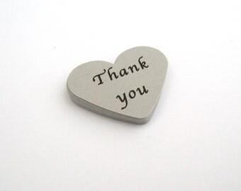 Thank You Confetti, Wedding or Party Confetti, Word Confetti, Custom Wording Confetti, Calligraphy Font Confetti, Heart Confetti