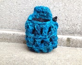 chalk bag, chalkbags, chalkbag, JEWELS... crocheted rock climbing chalk bag.