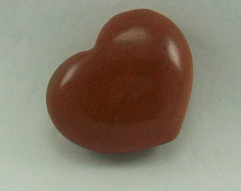 Goldstone Hand Carved Heart