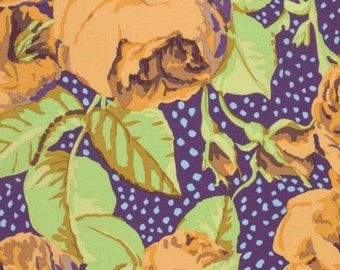 August Rose in Ochre by Kaffe Fassett