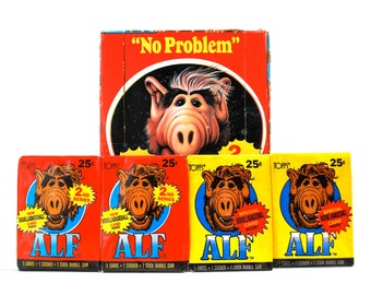 4 Alf Trading Card/Sticker Packs Series 1 & 2 1987