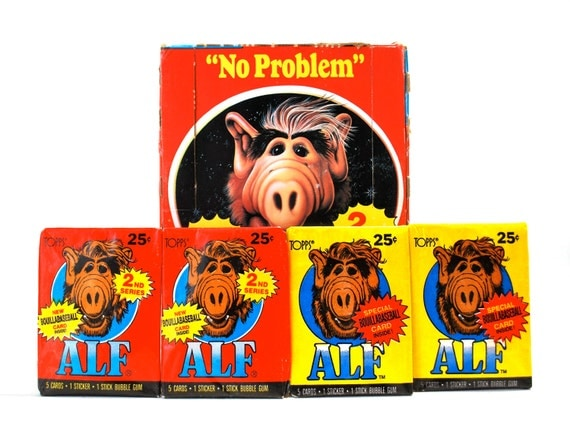 4 Alf Trading Card/Sticker Packs Series 1 & 2 1987