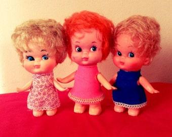 Vintage Pee Wee Dolls 1970s
