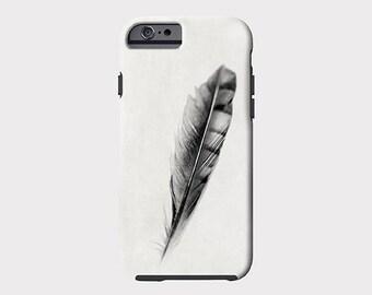 iPhone 7 case, iPhone 7 plus case, iPhone 6 plus, Feather iPhone 6 case, iPhone 6s case, black and white iphone case, iPhone 6 plus case