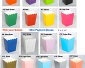 Popcorn Boxes Treat Boxes 12 ct. Favor Boxes Candy Boxes Mini Popcorn Boxes Wedding Favors Birthday Favors