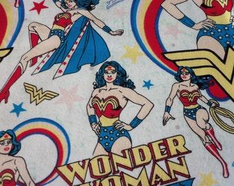 Wonder Woman Fabric Flannel  Fat Quarter New BTFQ