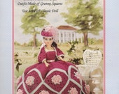 "Martha Vintage Fashion Classics Fibre Craft  Crochet Pattern Colonial Style Outfit for 15"" Fashion  Doll"