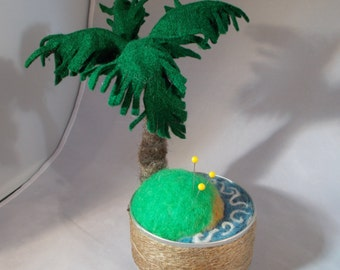 Pincushion, Deserted Island with a Coconut Palm Tree, by Grannancan