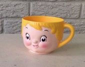 Mint unused Campbells soup mug childs cup advertsing 70s
