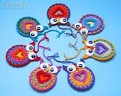 CROCHET PATTERN - Owl Always Love You - a crochet owl pattern, owl motif pattern, heart owl, owl ornament pattern - Instant PDF Download