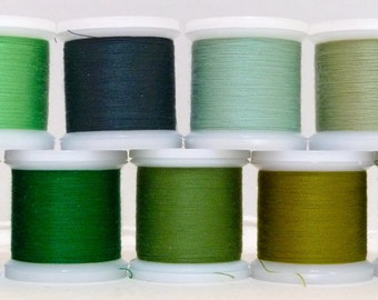 Green Shades Sewing Thread 100m - Matches our Wool Blend Felt