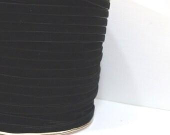 Black 6mm Velvet Ribbon