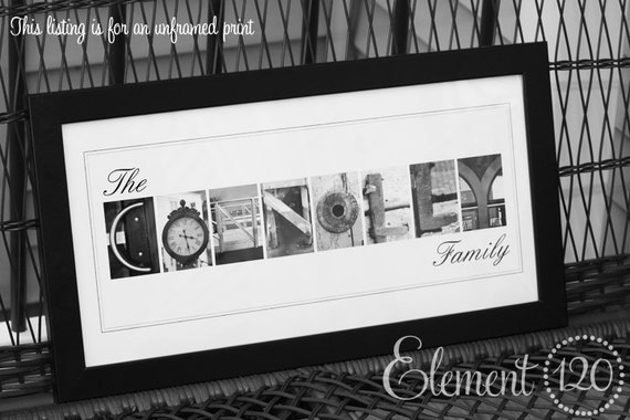 Items similar to custom photo alphabet art wedding for Gifts for landscape architects