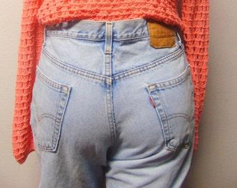 """550 Levis Vtg 80's High Waisted denim Jeans  Waist 36"""" x 30"""" inseam"""