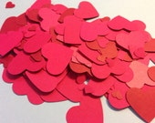 Shades of Red Confetti Table Scatter Die Cuts
