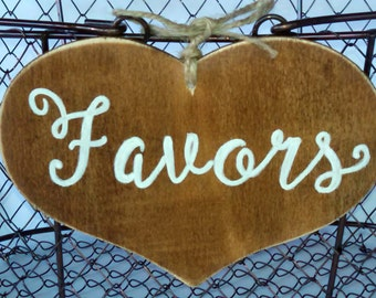 Large Rustic Wedding Favors Sign for your Wedding, Shower, or Party