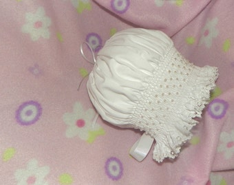 New Born Special Occassion smocked bonnet
