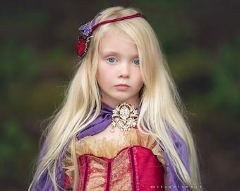 princess cape and dress, fairy dress, party dress, wedding flower girl dress, birthday dress, special occasion dress