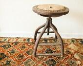 Victorian Antique Industrial Wooden Stool
