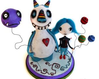 Halloween Monster - Monster Art - Halloween Art - Halloween Art Doll