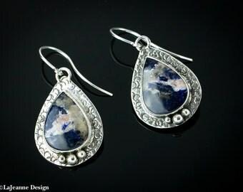 Pache - Sodalite Sterling Silver earrings