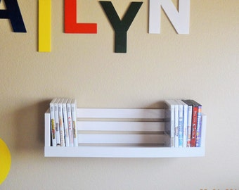 Video Game Storage Organizer - DVD Storage Shelf - White Cd Crate Shelf - Crate Shelving - Cd Storage - Cd Shelf
