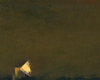 Lighthouse — Original Oil Painting, Landscape Painting, Abstract Landscape, Original Painting, Abstract Oil Painting, Fine Art, 5 x 7