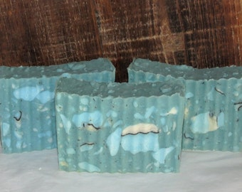 Sea Minerals Scented Luxury Hot Process Rustic Soap with Cocoa Butter - Palm Free