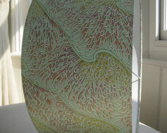 "Large Lampshade - Phoenix feathers - 40cm diameter x 20cm height. (15.7"" x 8"")"