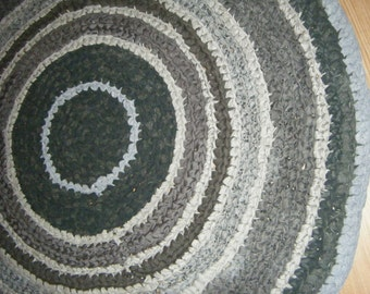 Shades of Grey 4 Foot Round Area Rug - For Etsy