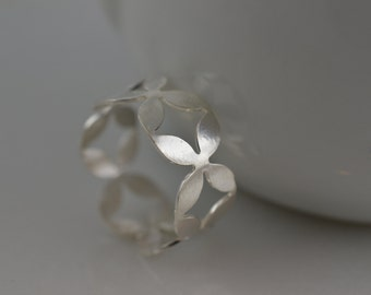 Sterling Silver Modern Pattern Ring