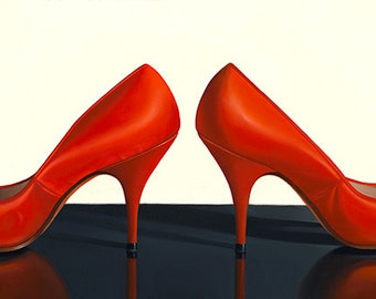 "Red Shoes giclee print 22"" x 12"""