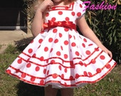 Shirley Temple replica dress with twirl skirt