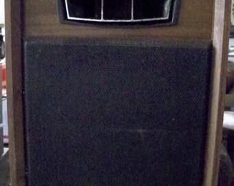 Vintage Pair of 1960's, 1970's Sanyo SX - 150 Three Way Speakers
