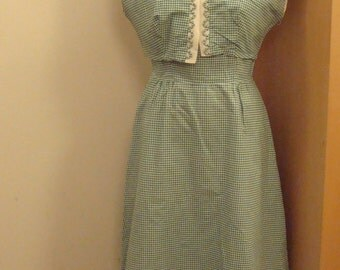 50s gingham dress suit
