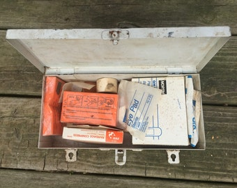 Old metal first aid kit