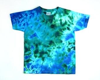 Size 2X 3X 4X Ocean Tie Dye T Shirt, Eco-friendly Dyeing