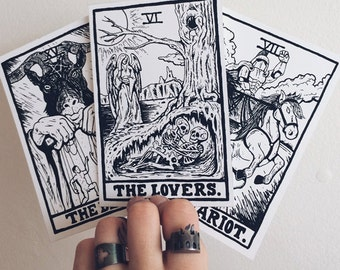 Tarot Prints (The Devil/The Lovers/The Chariot)
